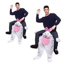 FREE Shipping Ride On animal Ride On Me Mascot Ride On Me Piggy Back Novelty Fancy Dress Costume for Purim Party Easter bunny