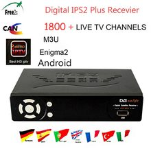IPS2 Plus DVB-S2 Satellite Receiver Full HD1080P 1Year French UK Germany Italy Europe IPTV optional Best HD IPTV 1800+LIVE TV(China)