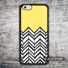 Yellow and Black Chevron font b Case b font For font b iPhone b font font