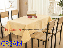 Cream colour jacquard Rectangle square wedding table linens,damask table cover for wedding,hotel tables decoration wholesale