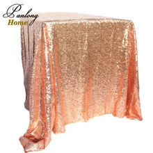 PanlongHome 1pcs 100*150cm Rectangular Champagne/gold/silver/rose gold Tablecloth Sequin Table Cloth Wedding Party Event Decor