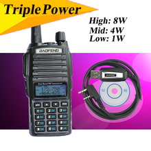 Bao feng UV82HX 8w walky talky professional radio sister baofeng uv5r tyt kg-uv9d+accessories ptt headset+Cable