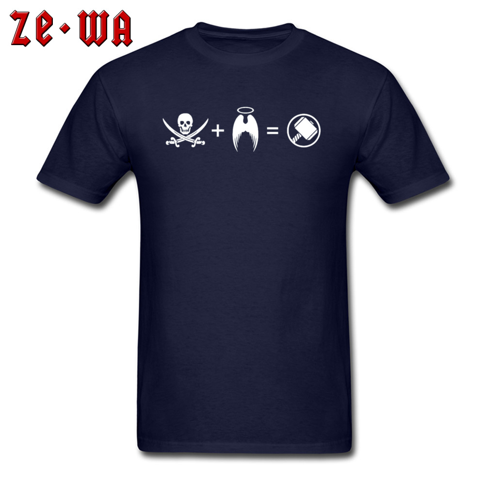 Men T-shirts Custom Classic T Shirt 100% Cotton Crew Neck Short Sleeve Casual Sweatshirts Summer Free Shipping Its Like A Pirate Had A Baby With An Angel navy