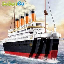 SuSenGo Building Blocks Toy 1021PCS Cruise RMS Titanic Ship Boat 3D Model Educational Gift Toy Compatible with Lego
