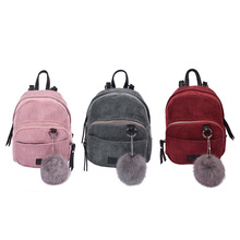 Women Backpack 2017 Solid Corduroy Backpack Simple Tote Backpack School Bags For Teenager Girls Students Shoulder Bag Travel Bag