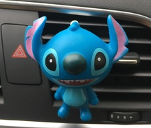 Various styles of cartoon Auto perfume clip Stitch car styling Ornament Air refreshing agent for air conditioner Lady car perfum