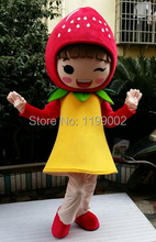 High quanlity Fruit Strawberry Mascot costume Cartoon Character Adult Mascot costumes free shipping
