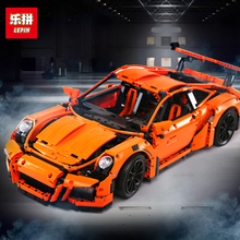 Lepin 20001 20001B Technic Series 270Orange White Super Race Car Model 42056 Building Kits Blocks Bricks DIY Toys Boy - blocls factory Store store