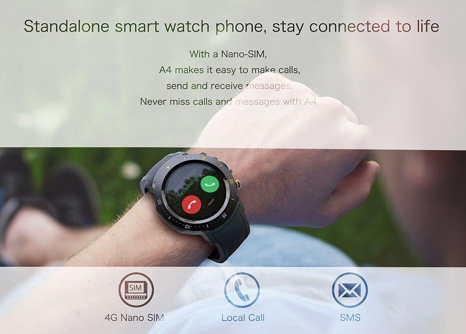 COLMI Flagship 4G Smart watch Android 7.1 OS MTK6739 1GB+16GB 400400 Display 530MAH IP67 waterproof GPS Men Smartwatch 2