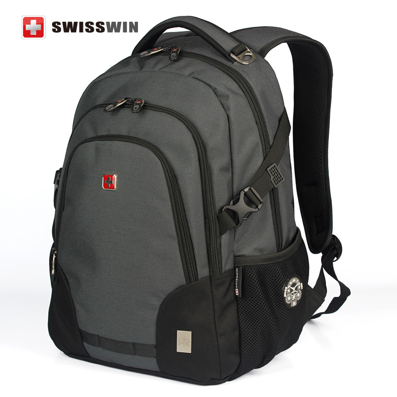 Swisswin Brand Fashion Business Backpack Male Travel Notebook Backpack 12 13 14 15 Waterproof Laptop Bag Student Bookbag<br>
