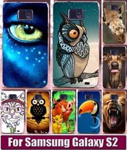 New cool Animal Patterns Painted Case For Samsung Galaxy S2 i9100 Mobile Phone Bag Back Cover Hard Shell Skin Hood Free shipping(China)