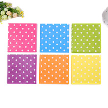 New sale Food grade table paper napkin tissue patterned color spot printed birthday wedding cocktail party home hotel decorative