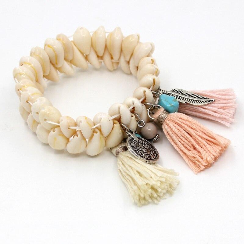 Shell & Tassel Bohemian Bracelet