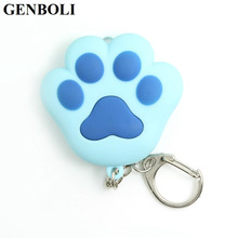 GENBOLI New Arrive Lovely Cat Claw Keychain Cool LED lights Key Ring Pendant Sound Keychains Cat Meow Gift hot sales