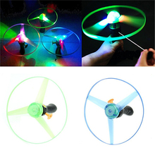 1 PCS Flying Saucer UFO Baby Children Kids Frisbee Boomerang Flying Saucer UFO Spin LED Light Toy Game Kids Gifts(China)