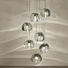 Modern LED Project BOCCI Magic Clear Heart-shaped Ball Crystal Pendant Lamp Hotel Dining Room Cafe Store Restaurant Droplight