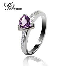 Fashion Natural Purple Amethyst Engagement Wedding Halo Ring For Women Best Gift Pure Solid 925 Sterling Silver Gemstone Jewelry