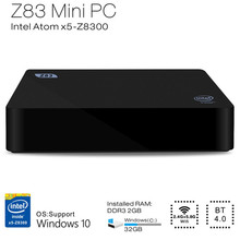 Z83II Mini PC Intel Atom x5-Z8350 Quad Core Windows 10 64bit 2.4G + 5.8G WiFi Intel HD Graphics 400 TV Box 2GB 32G Media Palyer(China)
