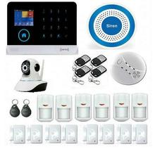 DZX Security 3G Alarm System WIFI APP WCDMA/CDMA Security Alarme With HD Network Camera Surveillance Wireless Blue Siren