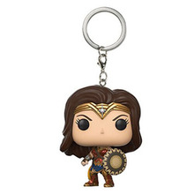 Cosplay Mini Wonder Woman Keychain Pendant PVC Action Figure Model Doll Toys(China)