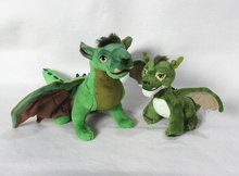 1pcs Pete's Dragon Plush Toys  dragon soft stuffed dolls for kids gift ,25cm and 45cm