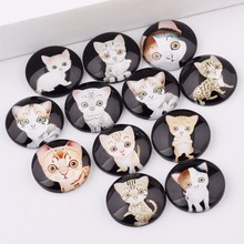 Buy reidgaller mix cute cat photo round glass cabochon 10mm 12mm 14mm 18mm 20mm 25mm diy earrings jewelry making findings for $4.05 in AliExpress store