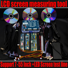 Free shipping New Laptop TV LCD / LED TEST TOOL/LCD panel tester kit/ Support 7-55 Inch full screen tool(The third generation)(China)