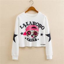 Autumn Short Cat Hoodies LalaBoBo Club Thing that make me happy Kawaii Autumn Sweatshirt for women 3D printed women's hoodies(China)