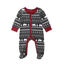 2018 Emmababy Meninos Meninas Natal Geometria Preto Bodysuit Pijamas Footed  Do Bebê Recém-nascido Roupas Roupas t b3dbbd7181a