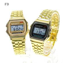 FD Luxury Gold Multifunctional Men Business Watch LED Sports Digital Wristwatch High Quality Alloy Clock Success Clock relogio