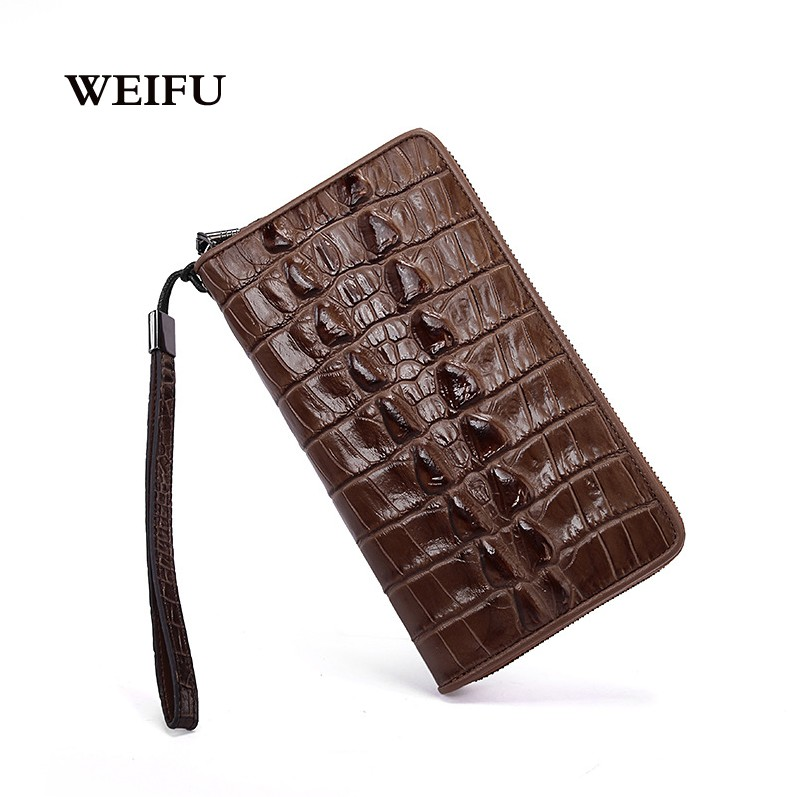 Crocodile grain  leather mens wallet Mens Hand bag purse High quality phone package <br><br>Aliexpress