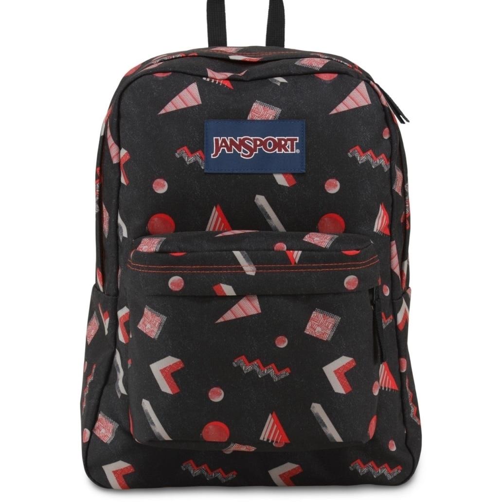 JanSport Superbreak School Backpack - High Risk Red Fresh Prince - Silver