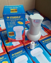 STARGOLD free shipping Best Signal digital HD Universal KU Band Single LNB High Gain Low noise satellite Dish LNB(China)