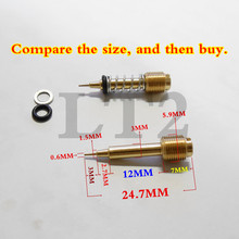 (Free shipping & 2PCS fuel ratio adjusting screw)YM Motorcycle carburetor Mikuni the carb air screw For XJR400 DR200~250 FZR400