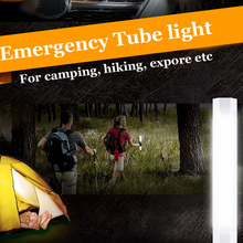 Led Emergency light USB Rechargeable White T8 base new tube 5 Flashlight Model dimmable Outdoor use Portable lamp for camp UW(China)
