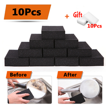 10pcs Magic Eraser Black Rust Melamine Cleaning Sponge + 10pcs White Nano Sponge For Cups Kitchen Sponge Removing Rust Rub(China)