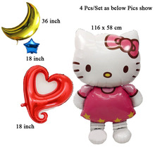 4Pcs/Lot globos wholesale balloons engagement anniversary valentines hello kitty wedding party supplies balloons(China)