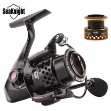 SeaKnight WR 2000H 3000H 6.2:1 1 Ball Bearing Spinning Fishing Reel Carbon Fiber Drag System Freshwater Wheel +Free Spare Spool
