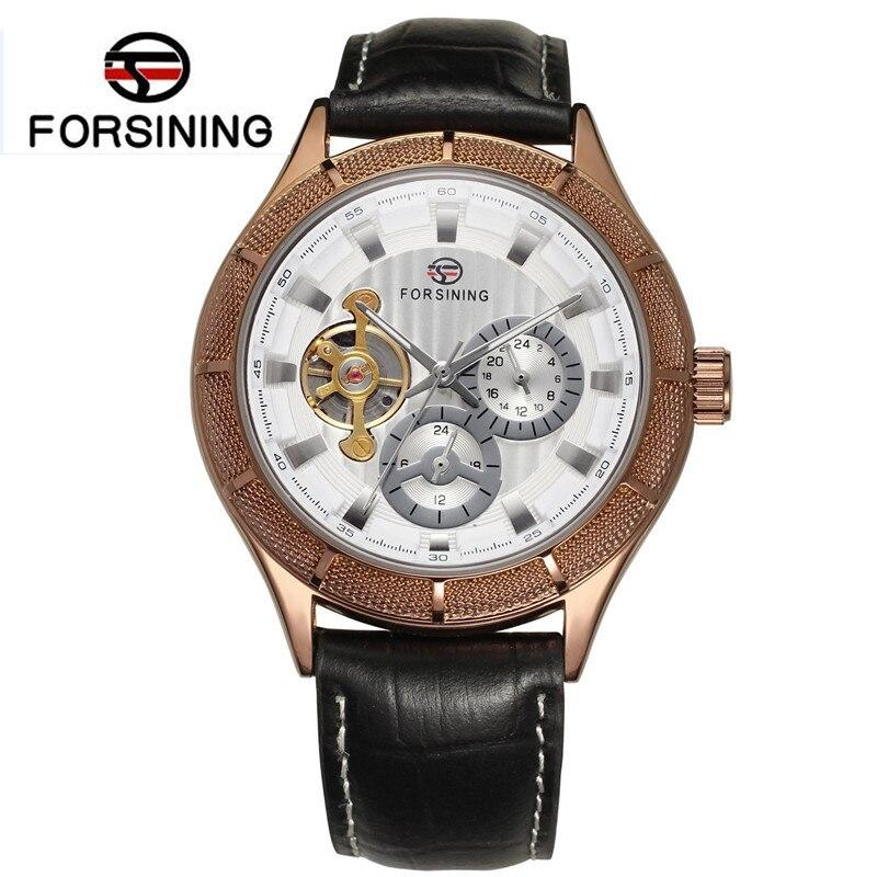 2017 Forsining Auto Watches Men Mechanical Watch Mens Flywheel Auto Wrist Watch Best  Gift Free Ship<br>
