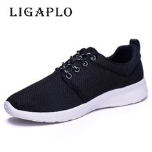 Wholesale Men Shoes Men Casual Shoes Summer Breathable Lace up Flats Fashion Light Male Footwear Big Size 38- 45 46 47 48(China)