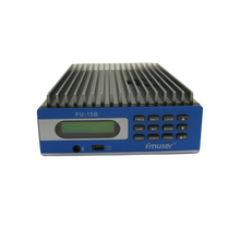 Fmuser FU-15B 15w fm radio audio transmitter PC Control fm radio station with the power adapter A KIT(China)