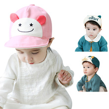 1-3Y Newest Baby Hat Cotton Toddler Child Baby Boy Girl Beret Sun Cap Cute Baseball Hat Baby Summer Hat(China)