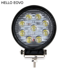 HELLO EOVO 2pcs 4 Inch 27W LED Work Light for Indicators Motorcycle Driving Offroad Boat Car Tractor Truck 4x4 SUV ATV 12V