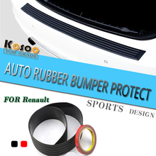 KOSOO For Renault Scenic 3 Megane 2 Fluence Modus Master Rubber Rear Guard Bumper Protect Trim Cover Sill mat pad car styling