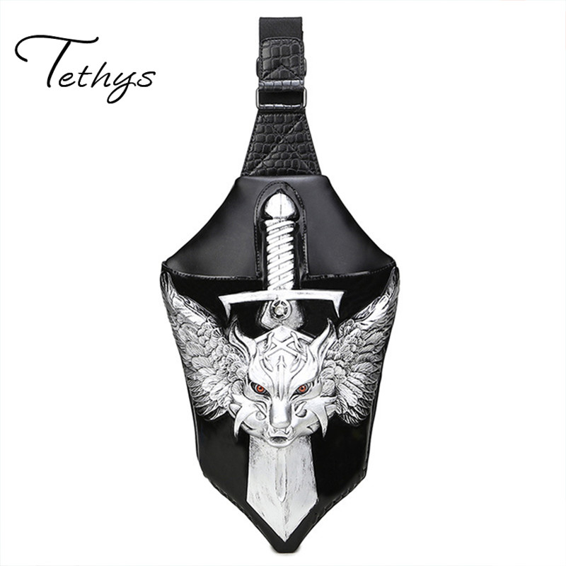 Messenger bag influx of male models PU chest High quality Dragon High quality chest pack<br><br>Aliexpress
