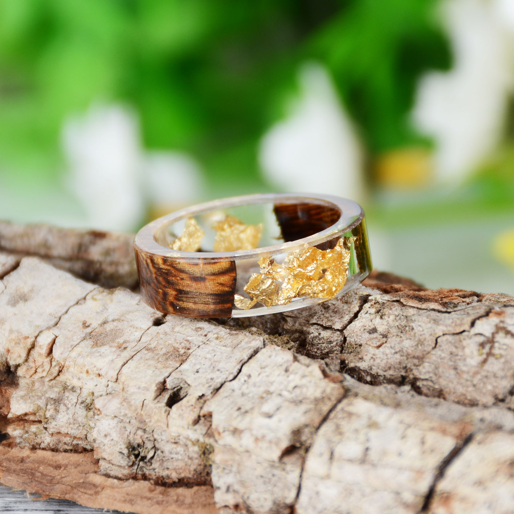 Handmade Wood Resin Ring Many Styles 37