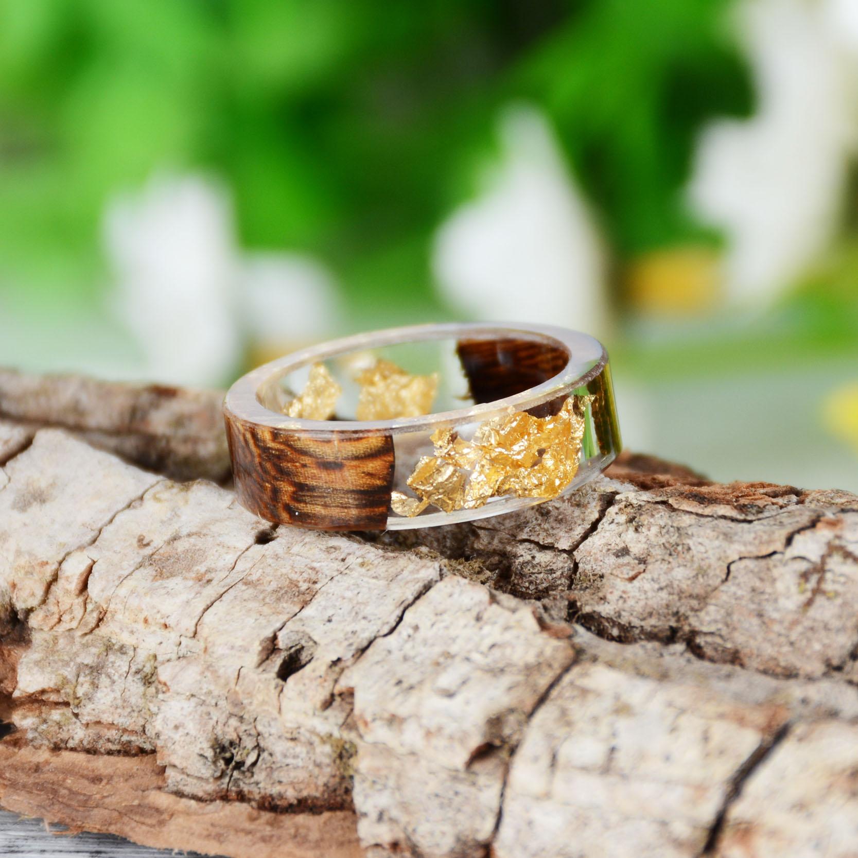 Handmade Wood Resin Ring Many Styles 37