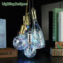 LED Edison bulb rgb Flash lamp Lighting party Firework string light holiday Decoration lampada chandelier bubble ball G80G95G125(China)