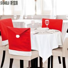 SIBAOLU Interesting Christmas Chair Cover Santa Clause Hat Home Dinner Table Xmas Party Decorations Ornaments Gift - Top Boom Life Store store