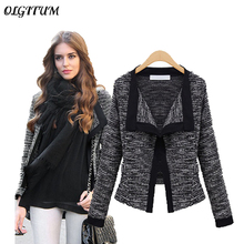 Women coat Autumn winter fashion Womens Jacket Quality Linen Ladies Knitted Cardigans Sweater Winter